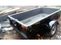 ELECTRIC HYDRAULIC TIPPER TRAILER LAND ROVER STYLING