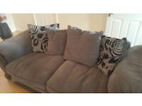 3 & 2 seater grey fabric sofa (need gone asap)