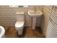 BATHROOMS. central heating. gas safe and plumbers.