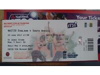 1 spare IT20 ticket for england v south africa at taunton this friday