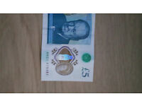 Rare 5 Pound Note AH21