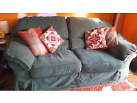 Sofa 3 seater Green