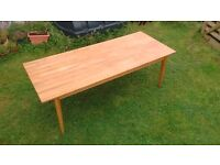 Solid wood dining table 220cm x 92cm Fabulous big family kitchen table