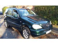 MERCEDES ML 430 70K MILES ONLY LOWEST ON THE NET 11 MONTHS MOT TAX 7 SEATER 4X4 M CLASS GREAT CAR