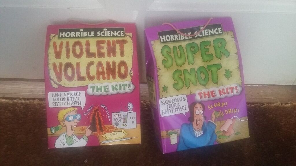 GAMESBOX 1in Stoke Bishop, BristolGumtree - GAMES – BOX 1 £10 FOR SELECTION FROM Horrible Science 5 Super Snot In Original Box, Including Instructions Horrible Science 3 Violent Volcano In Original Box, Including Instructions HILCO 5 Pick Up Sticks Electronic Version, In Original Box E.L.C....