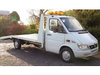 2003 Mercedes Sprinter, recovery truck, beavertail car transporter, 98000 miles only, superb