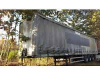 2 x Tri-axle Curtain side artic trailers for sale