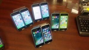 Plusieurs Iphones 5C  16 Go, débloqués et Garantie 30 jours