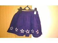 John Lewis navy corduroy skirt aged 3 years