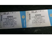2 x The Cranberries tickets, Thursday 25/05/2017. Face value.