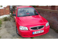 Hyundai Accent 1300. Everyday reliable with new MOT.