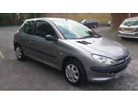 1.1 peugeot 206 petrol manual 2003 year 47000 mile history mot 16/5/17 hpi clear 12 month aa cover