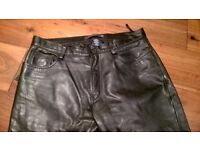 GAP straight fit leather trousers 34L lined