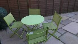 Outside Green table and 4 chairs