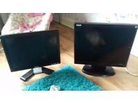 2 pc monitors good condition no cables.