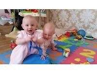 We are looking for an au pair to help looking after our 10 moths old twins girls