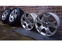 "Genuine, staggered 19"" BMW X5 Style 63 Alloy Wheels, Tiger Claws, 5x120, E53, E46, E39, E38"