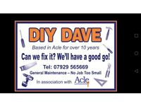 DIY DAVE Handyman property services, general maintenance.