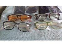 Four Pairs Designer Reading Glasses Ladies +3.00
