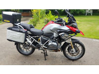 BMW R1200GS LC TE model in red full luggage, low mileage