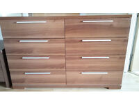 Chest of 8 drawers with bedside chest
