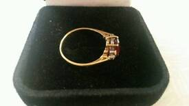 Vintage. Gold diamond ruby ring REDUCED