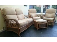 Conservatory Furniture - sofa, 2 chairs & footrest