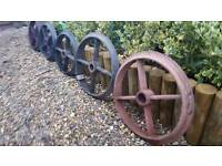 Cast iron cart wheels