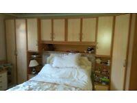 Wardrobe and cupboard combo