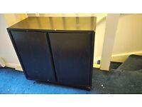 Black veneer cabinet