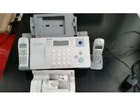 Fax machine with two handsets