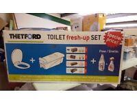 Brand New Thetford Toilet Fresh Up Set for Caravans or Motorhomes