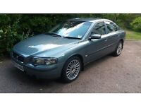 Volvo S60 SE D5 automatic. Mistral green and sandstone leather.