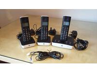 BT Freelance cordless phones x 3 XD7500