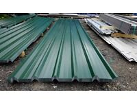 brand new 18ft long juniper polyester coated green box profile roofing sheets 32/1000
