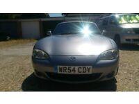 Mazda MX5 Mk2.5 1.8 2004 Sport Low millage 78k! Grey. Convertible