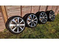 R17 4x100 4x108 Team dynamics alloy wheels with great Pirelli tyres 7jj Ford honda vw