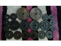 43kg of DP solid metal weight plates