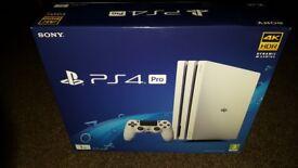 Ps4 pro white console