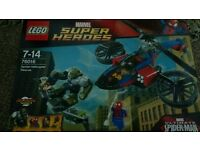 lego 76016 super heroes spider helicopter rescue