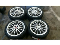 GENUINE 18 ALLOY WHEELS + NEW 225 40 18 TYRES FORD FOCUS RS ST CONNECT 5 X 108 VOLVO PEUGEOT CITROEN