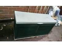 Large plastic garden storage box chest