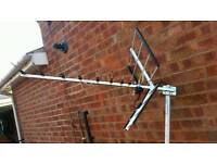 External TV aerial and wall bracket plus cable