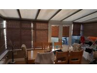 Conservatory for quick sale double patio doors and Blinds included white