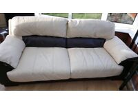 Selling a leather couch 2 seater and 3 seater