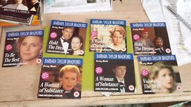 7 new dvds in the Barbara Taylor Bradford range as follows