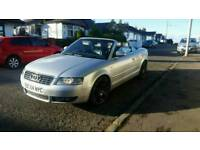 AUDI A4 SPORT CABRIOLET CONVERTIBLE ONE YEAR MOT QUICK SALE 1100!!!