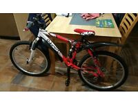 "Concept Viper 24"" Full Suspension Aluminium Mountain Bike - As new condition"