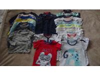Baby boy tops bundle 12-18 months