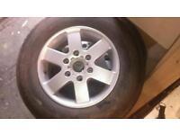Mitsubishi l200 alloy wheels 205/80/16